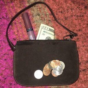 Express Genuine Suede Wristlet Coin Purse